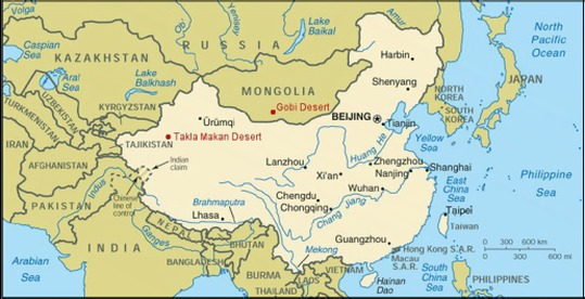 Geologic And Political Features Asia And Africa - Huang river world map
